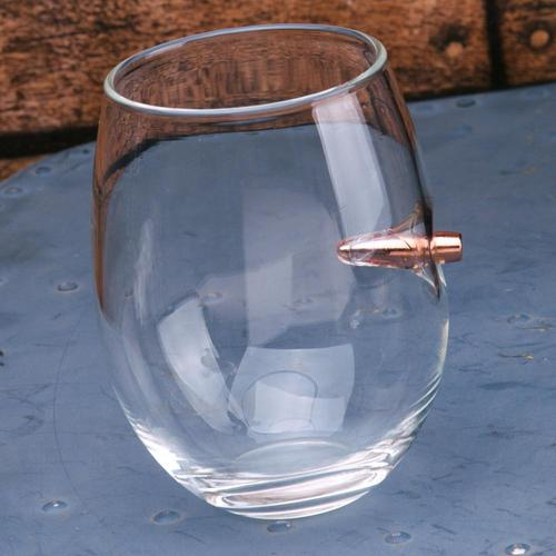 Lucky Shot 308 Caliber Bullet Stemless Wine Glass P20176-1?>