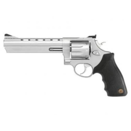 "Taurus Model 608 Revolver .357 Magnum 6.5"" Ported Barrel 8 Rounds Adjustable Sights Black Rubber Grip Matte Stainless Steel Finish 608SS6?>"