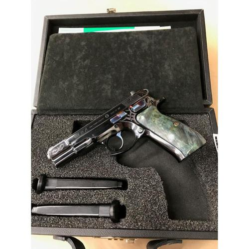 "CZ 75 B 40th Anniversary Semi-Auto Pistol 9mm 4.6"" Barrel 10 Rounds?>"