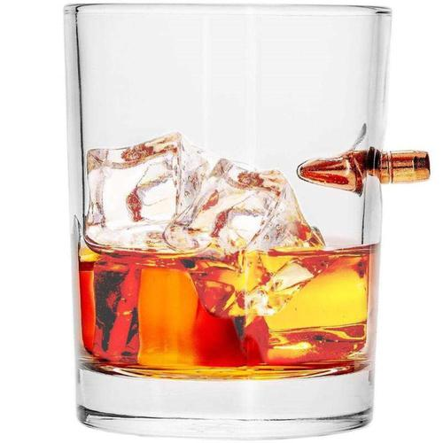 Lucky Shot 308 Caliber Bullet Whiskey Glass?>