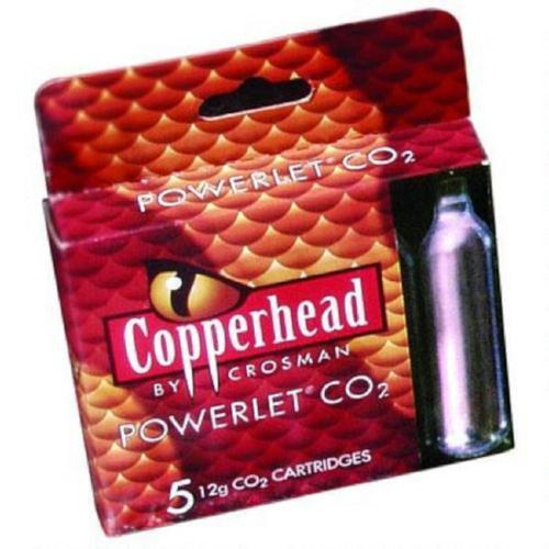 Crosman Copperhead CO2 Cartridge Powerlets Stainless Steel 12 Grams 231B - Pack of 5?>