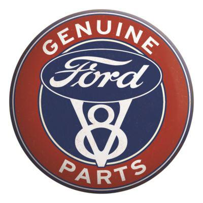 Open Road Brands Ford Genuine Tin Button Sign?>