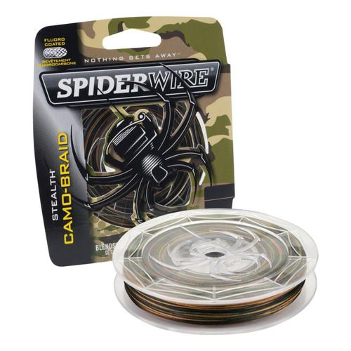 Spiderwire Stealth Camo Braid Fishing Line - Clear Spool?>