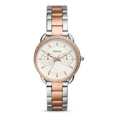Fossil Women's Tailor Multifunction Stainless Steel Watch?>