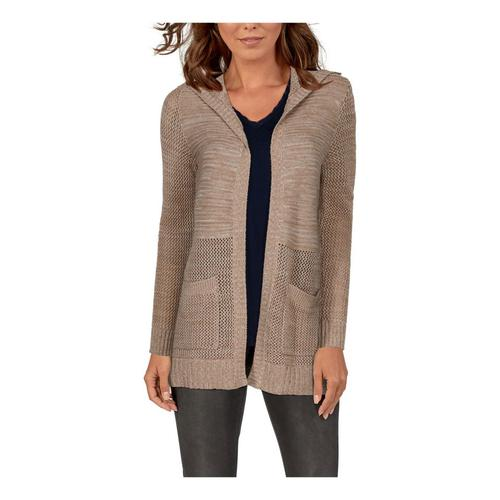 Natural Reflections® Women's Open-Knit Long-Sleeve Cardigan?>