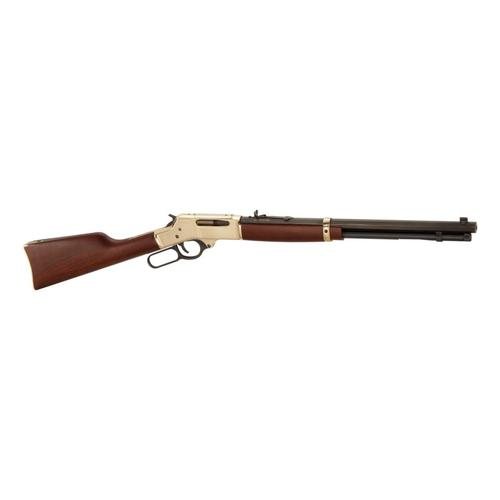 Henry .30-30 Win Brass Lever-Action Rifle w/ Octagon Barrel?>