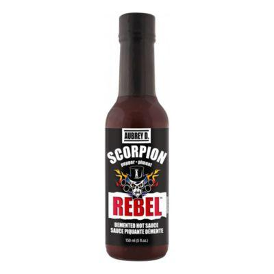 Aubrey D. Rebel Scorpion Pepper Super Hot Sauce?>