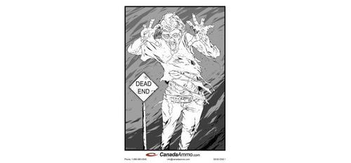 Large Zombie Target - DEAD END Pack of 25?>