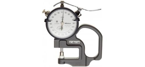 Mitutoyo 7327 Dial Thickness Gage, Flat Anvil, Standard Type, 0-1mm Range, 0.001mm Graduation, Plus /-5 Micrometer Accuracy?>