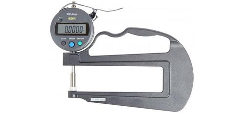 "Mitutoyo 547-520S Digital Thickness Gauge with Flat Anvil, 120mm Throat Depth, Id-S Type, Inch/Metric, 0-0.47"" (0-12mm) Range, 0.0005"" (0.01mm) Resolution, Plus /-0.001 Accuracy?>"