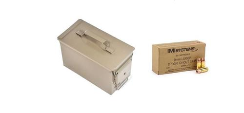 M2A1 Ammo Can w/ 1000rds IMI Di-cut 9mm?>