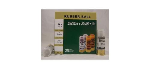 "12ga 2-5/8"" Rubber Ball (2-15mm) - Box of 25?>"