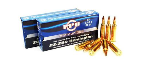 .22-250 Rem 55gr SP - Box of 20?>