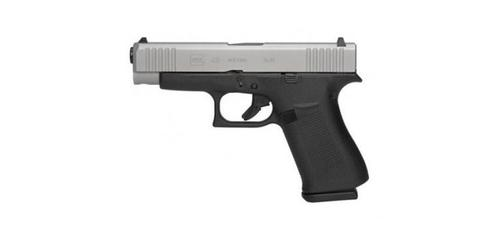 Glock 48 SemiAuto Pistol 9mm - Silver Slide GNS sights?>