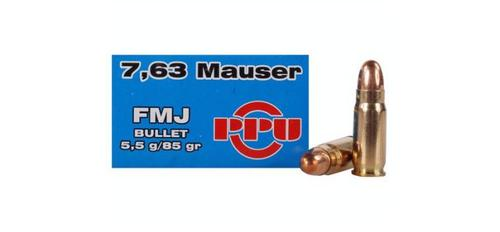 7.63mm Mauser 85gr FMJ - Box of 50 - LIMITED STOCK?>