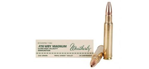 Weatherby - .416 WBY Magnum - 350gr Triple Shock - Box of 20rds?>