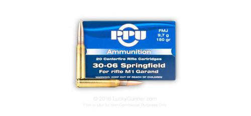 PRVI 30-06 150gr FMJ for M1 Garand Box of 20 rounds?>