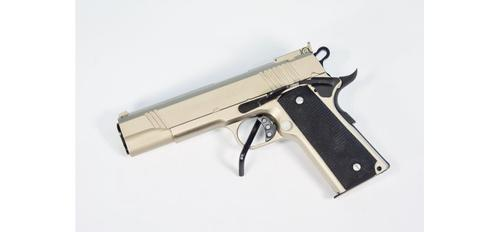 "Dominion Arms 1911 Chrome .45 ACP 5"" Pistol?>"