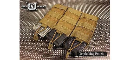 MOLLE SHINGLE MAG POUCH - TRIPLE IN BLACK?>