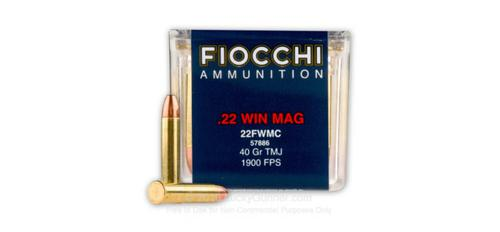 Fiocchi .22 Winchester Magnum WMR - 40gr TMJ - Box of 50 rounds?>