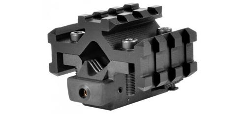 Tactical Red Laser Sight w/Universal Tri-Rail Barrel Mount in Black?>
