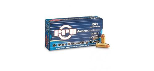 PRVI 9mm Browning Long - 108gr FMJ - Box of 50 rounds?>