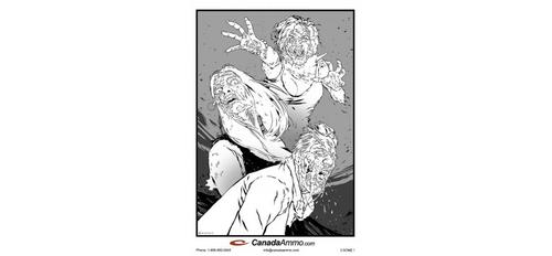 Large Zombie Target - 3 SOME 25 Pack?>