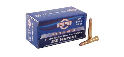 PRVI .22 Hornet - 45gr SP - Box of 50?>