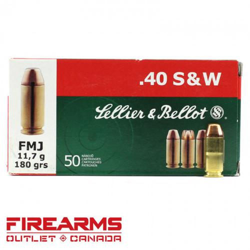 Sellier & Bellot - .40 S&W, 180gr, FMJ, Box of 50?>