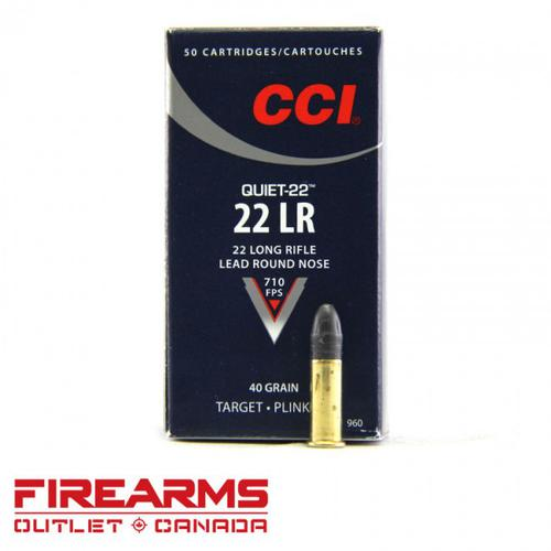 CCI Quiet - .22LR, 40gr., LRN, Box of 50 [960]?>