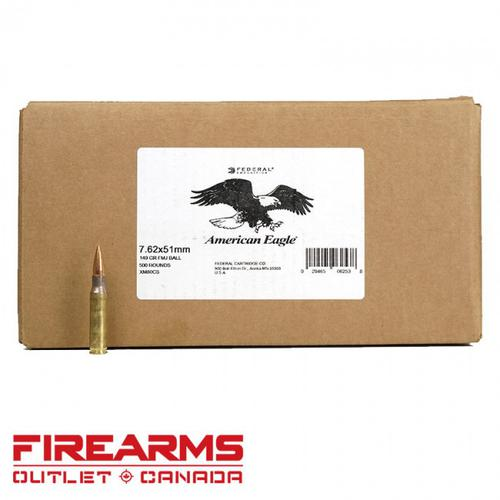 Federal - 7.62x51mm, 149gr, FMJ-BT, Box of 500 [XM80CS]?>