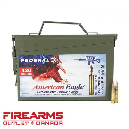 Federal American Eagle - 5.56 NATO, 55gr, FMJ-BT, Can of 420?>