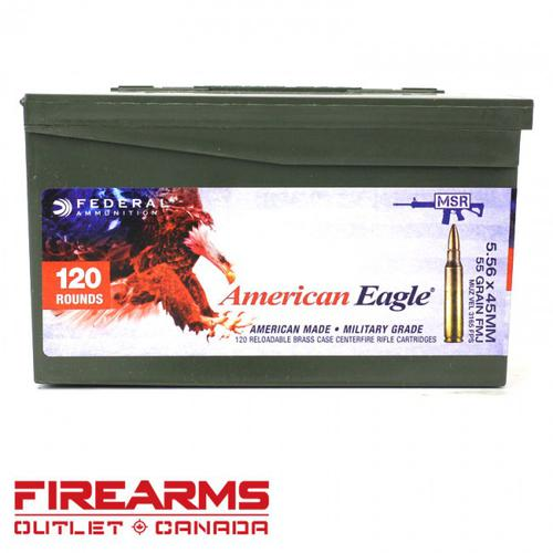 Federal American Eagle - 5.56 NATO, 55gr, FMJ-BT, Can of 120 [XM193LPC120]?>