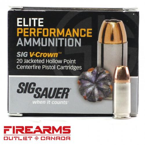 Sig Sauer Elite V-Crown Ammo - 9mm, 147gr, JHP, Box of 20 [E9MMA3]?>