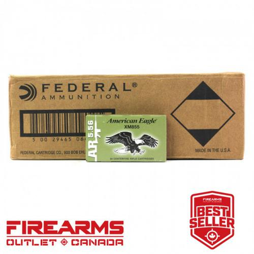 Federal American Eagle - 5.56 NATO, 62gr, FMJ-BT, Case of 500 [XM855FL]?>