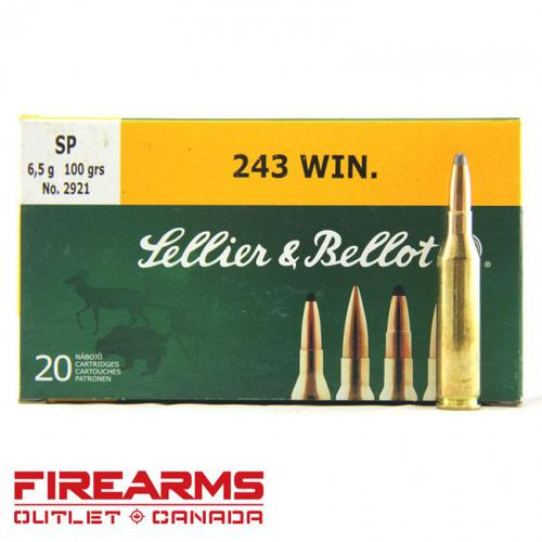 Sellier & Bellot - 243 Win, 100gr, SP, Box of 20?>
