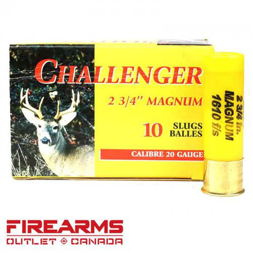 "Challenger - 20GA, 2-3/4"", Magnum Slug, Box of 10?>"
