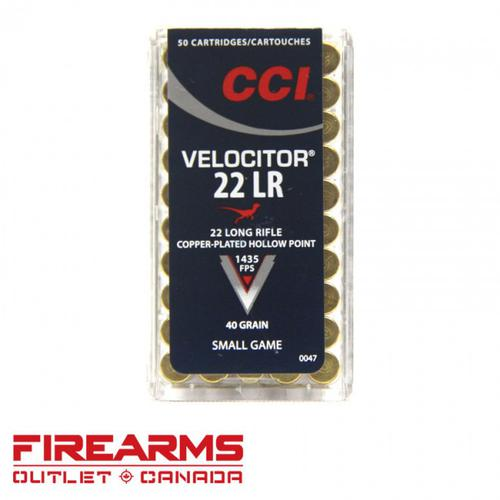 CCI Velocitor - .22LR, 40gr., CPHP, Box of 50 [0047]?>