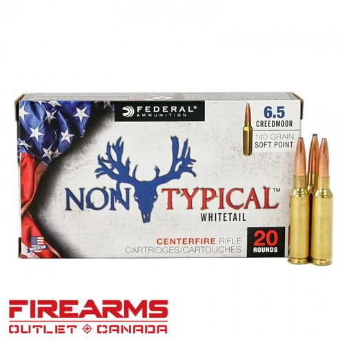 Federal Non-Typical -  6.5 Creedmoor, 140gr., SP, Box of 20 [65CDT1]?>