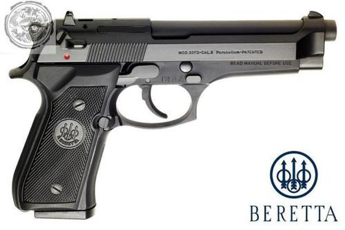 Beretta 92FS Semi-Auto Pistol 9mm Black 10+1 Round Made in Italy?>