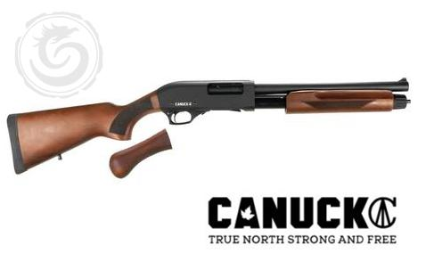 Canuck Regulator 12Ga 14″ Barrel 5 Rds 3″ Pump Action Shotgun Combo?>