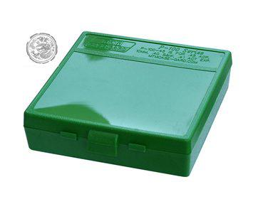 MTM 100 Round Flip-Top Ammo Box 380/9MM Cal (Green)?>