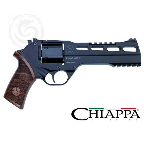 Chiappa Rhino 60DS 40 S&W, 6″ Black Finish Wood Grips, Adj. Sights?>