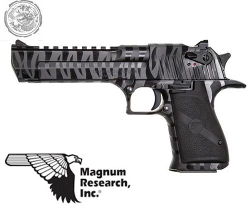 Desert Eagle, .50 AE, Black w/ Tiger Stripes?>