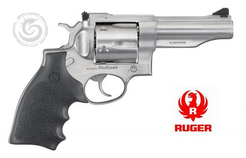 Ruger 5044 Redhawk Revolver 44Mag 6rd 4.2in Stainless With Rubber Grip?>
