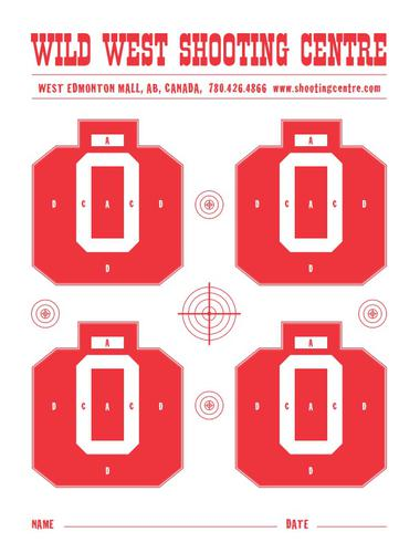 "Wild West Shooting Centre ""Basic Target"" 5 Pack?>"