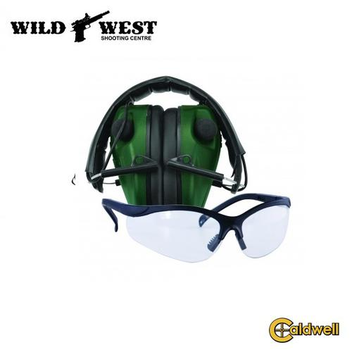 Caldwell E-MAX LoPro Electronic Muffs With Shooting Glasses?>