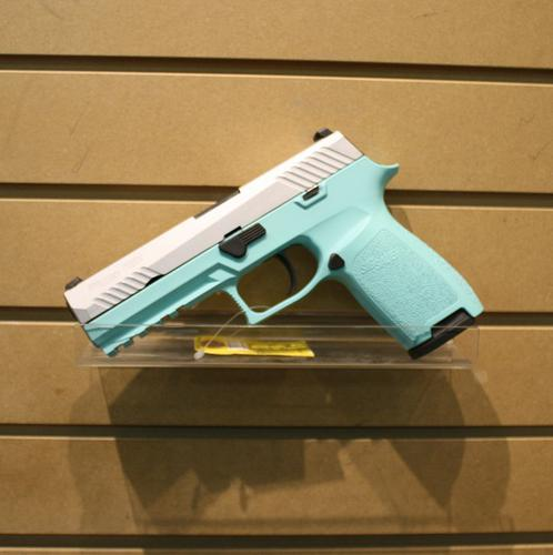 Sig Sauer P320 4.7″ 9mm – Tiffany Blue?>