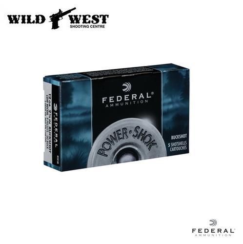 Federal Ammunition 12ga. Power Shock 00 Buckshot – 5 Rounds?>