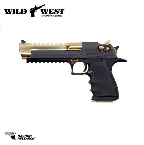Magnum Research Desert Eagle L6 Gold Two Tone .50AE?>